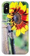 Sunflower On A Stick IPhone Case