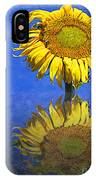 Sunflower Reflection IPhone Case