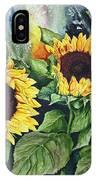 Sunflower Serenade IPhone Case