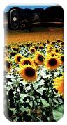 Sunflowers At Dusk IPhone Case