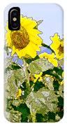 Sunflowers Sunbathing IPhone Case