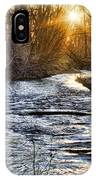 Sunrise On The St Vrain River IPhone Case