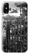 Sunrise Sentinel In Black And White IPhone Case