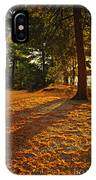 Sunset In Woods At Lake Shore IPhone Case