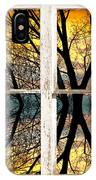 Sunset Tree Silhouette Abstract Picture Window View IPhone Case