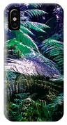 Surreal Tropical Forest Drawing Illustrated Scene IPhone Case