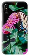 Swallowtail Among The Zinnias IPhone Case