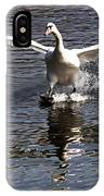 Swan Touches Down IPhone Case