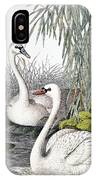 Swans, C1850 IPhone Case