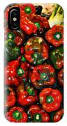 Sweet Red Peppers IPhone Case