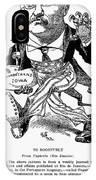 T. Roosevelt Cartoon, 1903 IPhone Case