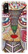 Talavera Feather Owl Drinking Red Wine S IPhone Case