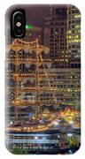 Tall Ships Docked At Inner Harbor IPhone Case