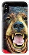 Taxidermy -  Black Bear IPhone Case