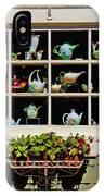 Tea Pots In Window IPhone Case
