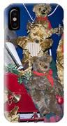 Teddy Bear Band Christmas IPhone Case