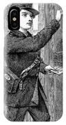 Telegraph Messenger, 1869 IPhone Case