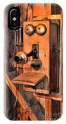 Telephone - Antique Hand Cranked Phone IPhone Case