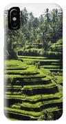 Terraced Rice Fields On Bali Island IPhone Case