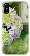 Textured Hydrangeas Birthday Mother Greeting Card IPhone Case