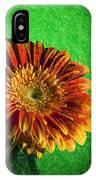 Textured Orange Flower IPhone Case