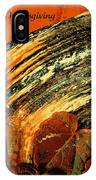 Thanksgiving Greeting Card IPhone Case