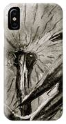 That Which Lies Behind In Black And White IPhone Case