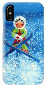 The Aerial Skier - 11 IPhone Case