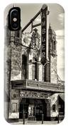 The Ambler Theater In Sepia IPhone Case