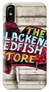 The Blackened Redfish Store IPhone Case