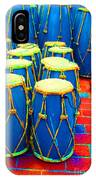 The Blue Drums IPhone Case