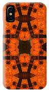 The Color Orange Mandala Abstract IPhone Case