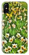 The Flower Bed IPhone Case