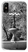The Fountain In Black And White IPhone Case