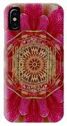 The Golden Orchid Mandala IPhone Case
