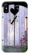 The Heart, Like An Old Gate Needs Care And Attention IPhone Case