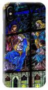 The Nativity Stained Glass IPhone Case