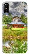 The Old Barn By The Pond IPhone Case