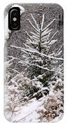 The Old Fence - Snowy Evergreen IPhone Case