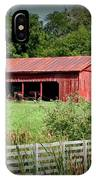 The Old Tractor Shed In Vignette IPhone Case