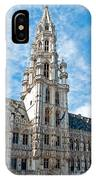 the Spire of  Brussels IPhone Case