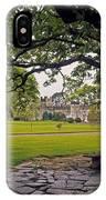 The Sundial Terrace, Glin Castle, Co IPhone Case