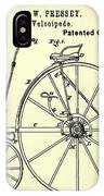 The Velocipede Patent 1880 IPhone Case