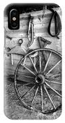 The Wagon Wheel Bw IPhone Case