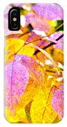 The Warm Glow In Autumn Abstract IPhone Case
