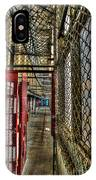 The West Virginia State Penitentiary Cell Hallway IPhone Case