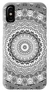 The White Mandala No. 5 IPhone Case