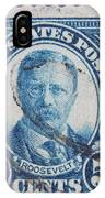 Theodore Roosevelt Postage Stamp IPhone Case