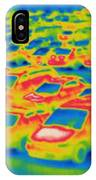 Thermogram Of A Parking Lot IPhone Case
