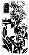 Thistle, Lino Print IPhone Case